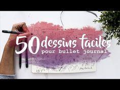 (25) Tuto bujo : 50 dessins faciles (Bullet journal français) - YouTube