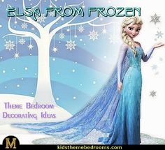 Elsa Frozen theme bedroom decorating ideas-Disney bedroom ideas