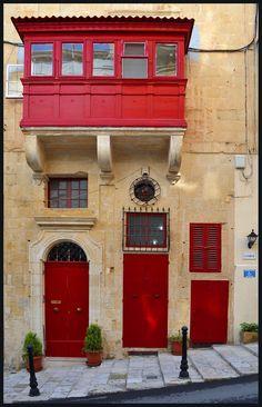 A typical house in Valletta, Malta