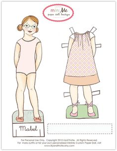 Lily & Thistle: Cute paper dolls