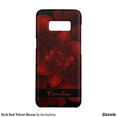 Shop Rich Red Velvet Bloom Case-Mate Samsung Galaxy Case created by karlajkitty. Galaxy S8, Samsung Galaxy, Fractals, Electronics Accessories, Red Velvet, Custom Design, Bloom, Phone Cases, Red Valvet