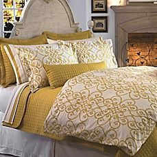 image of Downtown Company Freccia Reversible Mini Duvet Cover Set in Gold