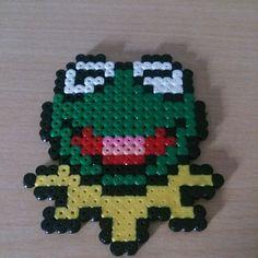 Kermit hama beads by hama_beards