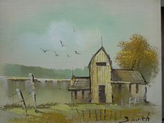 shabby cottage chic VINTAGE OIL PAINTING french by COTTAGEGOLD, $32.00