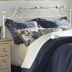 Fashion Bed Group Metal Beds Queen Chester Duo Panel Headboard or Footboard - Colder's Furniture and Appliance - Headboard Milwaukee, West Allis, Oak Creek, Delafield, Grafton, and Waukesha, WI
