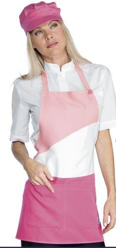 Grembiule Donna con Pettorina per Gelaterie e Panifici Fuxia Apron, Fashion, Pink, Moda, Fashion Styles, Fasion, Aprons