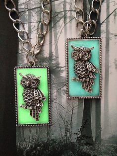 Night Guardian Owl Pendant  Glow in the Dark by FreshwaterMermaids