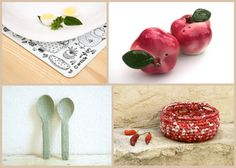 Spring is coming and this collection reminds me of a picnic on the patio. Anna's placemat is darling https://www.etsy.com/listing/157155974 and looks so sweet with Bekah's vintage apple salt and pepper shakers https://www.etsy.com/listing/163146612 I can almost smell the warm croissants resting in Osnat's crochet bowl https://www.etsy.com/listing/176238102 and Karrita's ceramic spoons ready to serve https://www.etsy.com/listing/152467577 a delicious treat!