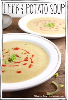 Leek and Potato Soup. A lovely fresh soup for spring. Serve with a ...