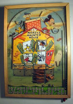 Rare 1940's Mickey Mouse Pinball Game Wood by OregonTimeTravelers, $350.00