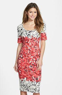 Maggy London Print Ponte Midi Dress (Regular & Petite) available at #Nordstrom