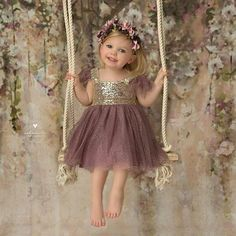 Princess Prom Dresses, 2019 Bling-Bling Flower Girl Dresses Square Tulle Tea Length, Plus Size Formal Dresses and Plus Size Party Dresses are great for your next special Occassion at cheap affordable prices The Dress Outlet. Lace Flower Girls, Flower Girl Dresses, Dresses Kids Girl, Kids Outfits, Baby Dresses, 6 Month Baby Picture Ideas, Foto Baby, Junior Bridesmaid Dresses, Baby Month By Month