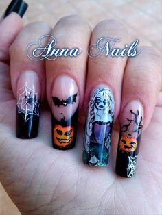 Anna Nails #nails #nailart #nailpolish #unghie #halloween