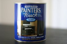 80-100 grit sand paper, this type of paint for re-painting furniture (Home Depot) & Spay primer by Painter's Touch (white or gray)