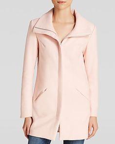 Lucy Paris Coat - blush pink funnel neck coat  | Bloomingdale's