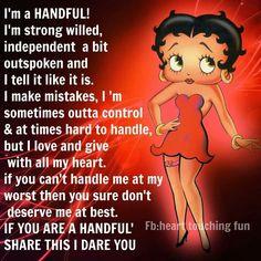 Betty Boop - handful