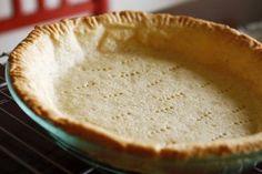 No Fail, Gluten-Free Pie Crust Recipe from Bridget Low Carb Pie Crust, Gluten Free Pie Crust, Pie Crust Recipes, Pumpkin Pie Recipes, Low Carb Bread, Pie Crusts, Gluten Free Sweets, Gluten Free Baking, Dairy Free Recipes