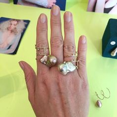 One of our favorites from yesterday. Pernille's use of one-of-a-kind freshwater pearls in these lightweight rings made our hearts jump a beat. Should we get them on Joli?  #jolicph #sneakpeek #pernillelauridsenjewellery #danskdesign #handcrafted #smykker #freshwaterpearls #newcollection #dansksmykkekunst #unique #fridayfavorite
