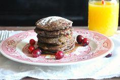 Cranberry and Walnut Buckwheat Pancakes Recipe Buckwheat Pancakes, Perfect Breakfast, Fresh Fruit, Breakfast Recipes, Good Food, Brunch, Cooking, Fresh Cranberries, Rolled Oats