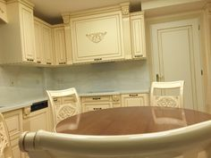Classic kitchen. With patina and sculpture. Nomidis Luxury Furniture.