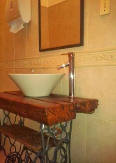 Encantadores baños rústicos  Baños  Pinterest  Google ...