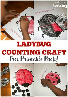These free printable activities for the Grouchy Ladybug are great for learning about ladybugs during spring!