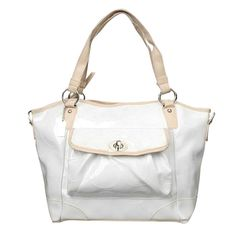 #BestSeller Coach Bleecker Riley Carryall Small White Satchels ECE