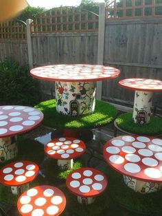 Toad stool fairy homes