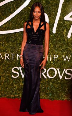 Naomi Campbell in Alexander McQueen at British Fashion Awards 2014 |