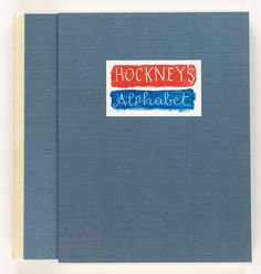 HOCKNEY, DAVID. Hockney's Alphabet. Edited by Stephen Spender. Each letter of the alphabet illustrated by Hockney with descriptive prose by writers. 4to, gilt-lettered vellum-backed blue boards; publisher's slipcase. London: Faber and Faber, [1991]