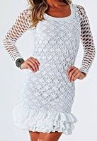 Tina's handicraft : long sleeve white dress