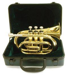 Bb British Design Pocket Cornet w Hard case Not pocket trumpet!