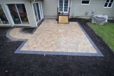 Stone Patios, Brick Patios and Stone Work gallery images of hardscape designed and installed by Hoehnen Landscaping. Serving Solon, Hudson, Gates Mills and the Cleveland OH area. Landscape Pavers, Landscaping A Slope, Landscape Materials, Landscape Design, Paver Stone Patio, Paver Stones, Brick Walkway, Stone Patios, Patio Steps