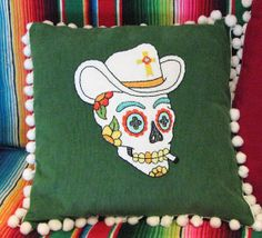Day of the Dead Charro Sugar Skull Embroidered by EmmaDilemmasShop, $70.00