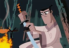 Gotta get back, back to my crush, Samurai Jack (watch out!).