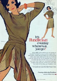 1960s Pendleton Country Clothes