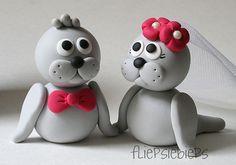 Seal Wedding Cake Topper