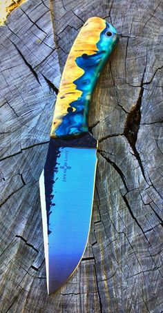 Semi Custom Handmade Harpoon EDC Knife by Joe Loui Knives