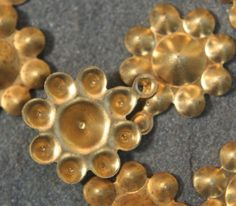 20 Brass vintage flower findings with loop by debsdesigns401 on Etsy