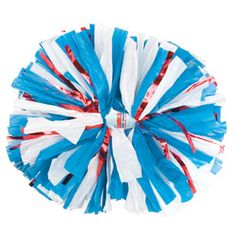 NEW!!    Custom Extra-Wide Streamer Plastic Glitter Show Poms by Cheerleading Company