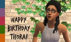 yay its thorarosebird's birthday! (and apparently donut day as well, thanks tumblr for alerting us to this fact) thora's romy and i bring a small present of recolors of tamo's buddy holly-ish glasses, including a darker edit of the tortoiseshell pair. celebrate by downloading here hope you like them!