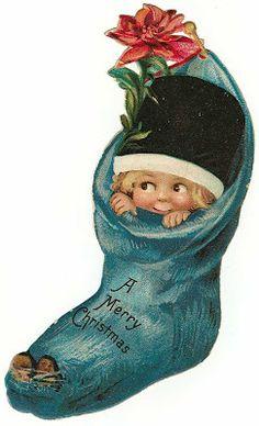 tarjetas navidad vintage 70