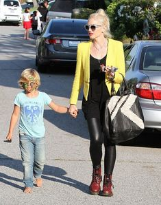 Gwen Stefani knows how to style her 1460 Cherry Red for a day out