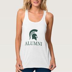 #customized - #Michigan State University Alumni Tank Top