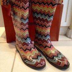 Missoni Rain Boots Missoni for Target limited edition rain boot. New in box   Size 10 Missoni Shoes Winter & Rain Boots