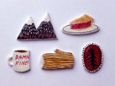 littlealienproducts: Twin Peaks Brooches by aliceroses