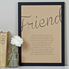 friendship poem print vintage style by bespoke verse | notonthehighstreet.com