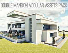 3D asset modern house | CGTrader House 3d Model, Architecture Building Design, City Model, 3d Assets, 3d Projects, Prefab, Facade, 3d Printing, Exterior