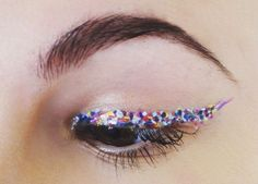 Confetti liner-I dont know if i'd ever do,it but it looks like fun.