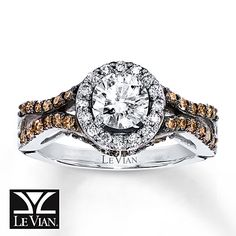LeVian Chocolate Diamonds 1 1/4 ct tw 14K Gold Engagement Ring
